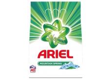 Ariel Mountain Spring prací prášok pre čisté a voňavé bielizeň bez škvŕn 40 dávok 3 kg