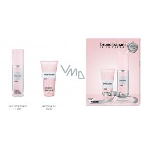 Bruno Banani Woman parfumovaný deodorant sklo 75 ml + sprchový gél 50 ml, darčeková sada