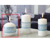 Lima Exclusive sviečka modrá guľa 80 mm 1 kus