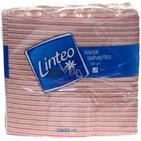 Linteo Satin papierové obrúsky 33 x 33 cm 50 kusov prúžkované