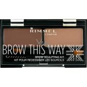 Rimmel London Brow This Way paletka na obočí 003 Dark Brown 1,1 g
