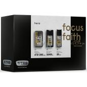 Str8 Hero voda po holení 50 ml + deodorant sprej 150 ml + sprchový gel 250 ml, kosmetická sada