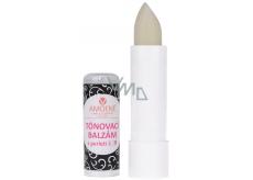 Amoena Višňa luxusné tónovací balzam na pery s perleťou 09 biely 4,2 g
