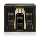 Baylis & Harding Čierne korenie a Ženšen 2v1 šampón a sprchový gél 300 ml + sprchový gél 200 ml + balzam po holení 200 ml, kozmetická sada pre mužov