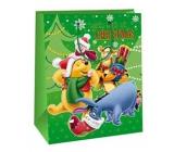 Ditipo Disney Dárková papírová taška pro děti Medvídek Pú Merry Christmas 26,4 x 12 x 32,4 cm
