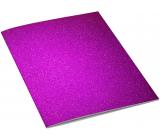 Ditipo Zošit Glitter Collection A4 linajkový tmavo ružový 21 x 29 cm 3424