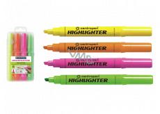 Centropen Zvýrazňovač Highlighter 8552 1-4 mm v etui, 4 farby