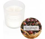 Heart & Home Sladké čerešne Sójová vonná votívny sviečka v skle doba horenia až 15 hodín 5,8 x 5 cm