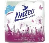 Linteo Classic toaletní papír zelený 2 vrstvý 150 útržků 4 kusy