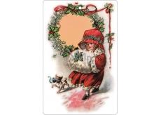 Bohemia Gifts & Cosmetics Aromatická vonná karta Vánoční večer Vánoce Arktická svěží vůně 10,5 x 16 cm