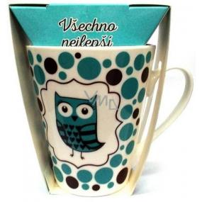 Albi Dobroty Darčeková sada hrnček a sypaný čaj bez ibišteka, aromatizovaný Všetko najlepšie modrý 300 ml