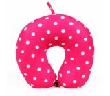 Albi Cestovní polštář Růžový s puntíky 30 x 28 x 10 cm