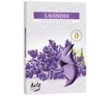 BISPOL Aura Lavender - Levanduľa vonné čajové sviečky 6 kusov