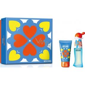 Moschino I Love Love toaletná voda pre ženy 30 ml + telové mlieko 50 ml, darčeková sada
