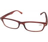 Okuliare diop.plast. + 1,5 hnedé mat MC2 ER4040