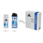 Adidas Climacool antiperspirant deodorant sprej pre mužov 150 ml + 3v1 sprchový gél na telo, tvár a vlasy 250 ml, kozmetická sada