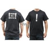 Bohemia Gifts Originálne tričko s reflexným potlačou Pozor, idem z krčmy! veľkosť L