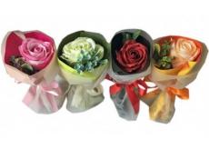 NeoCos Mydlová ruže kytice v papieri oranžová 1 kus