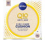 Nivea Q10 Plus Anti-Age Cushion 3v1 ošetrujúci tónovací krém v hubke 02 Dark 15 g