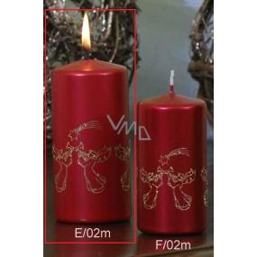 Lima Andělé trubači svíčka červená válec 60 x 120 mm 1 kus