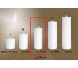 Lima Gastro hladká sviečka biela valec 80 x 200 mm 1 kus