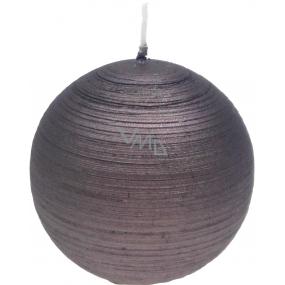 Lima Alfa sviečka svetlo hnedá guľa 80 mm 1 kus