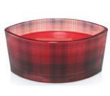 Woodwick Crimson Berries - Červené bobule vonná sviečka s dreveným širokým knôtom a viečkom sklo loď 453 g Holiday limitid 2018