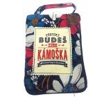 Albi Skladacia taška na zips do kabelky s nápisom Skvelá kamarátka 42 x 41 x 11 cm