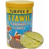 Tubifex Etawil sušený gammarus a kreveta doplnkové krmivo pre živorodé a jikrové ryby 125 ml