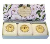 English Soap Biely Jazmín prírodné parfumované mydlo s bambuckým maslom 3 x 100 g,