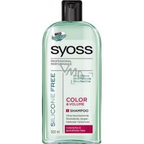 Syoss Color & Volume Silicone Free šampón na vlasy bez silikónov 500 ml