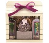 Bohemia Herbs Lavender La Provence sprchový gel 100 ml + Olejová lázeň 100 ml + Mýdlo 100 g + bylinky levandule v sáčku 1 kus, kosmetická sada