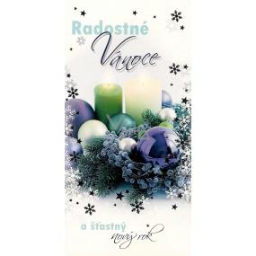 Nekupto Přání k Vánocům Radostné Vánoce modrý věnec