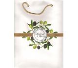 Jeanne en Provence Divine Olive Dárková papírová taška střední 24 x 30 cm