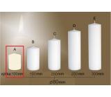 Lima Gastro hladká svíčka slonová kost válec 80 x 100 mm 1 kus