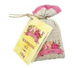 Bohemia Gifts & Cosmetics Rosarium s extrakty z šípků a květů růže koupelová sůl v plátěném sáčku 150 g