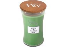 Woodwick Palm leaf - Palmový list vonná sviečka s dreveným knôtom a viečkom sklo veľká 609,5 g