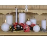 Lima Alfa Mrazivý efekt svíčka bílá válec 80 x 150 mm 1 kus