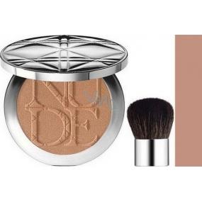 Christian Dior Diorskin Nude Tan de Soleil žiarivý púder odtieň 001 Honey 10 g