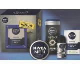 Nivea Men Toolbox Emergency balzám po holení 100 ml + krém 150 ml + antiperspirant roll-on 50 ml + sprchový gel 250 ml, kosmetická sada