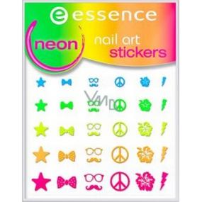 Essence Nail Art Sticker nálepky na nehty 13 Neon 1 aršík