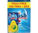 Finish Classic tablety do myčky 100 kusů + Calgonit Finish Citron a Limeta osvěžovač do myčky 1 kus