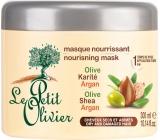 Le Petit Olivier Oliva, bambucké máslo a arganový olej vyživující maska na suché a lámavé vlasy 300 ml