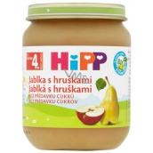 Hipp Ovocie Bio Jablká s hruškami ovocný príkrm, znížený obsah laktózy a bez pridaného cukru pre deti 125 g