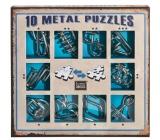 Albi Sada 10 kovových hlavolamov modrá, vek 7+