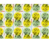 Mimoni Vianočný baliaci papier pre deti žlto zelený 2 mx 70 cm
