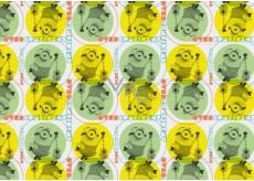 Darčekový baliaci papier Mimoni Vianočné žlto zelený