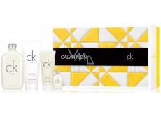 Calvin Klein CK One toaletná voda unisex 200 ml + toaletná voda unisex 15 ml + sprchový gél 100 ml + telové mlieko 200 ml, darčeková sada