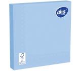 Aha Papierové obrúsky jednofarebné 3 vrstvové 33 x 33 cm 20 kusov svetlo modré