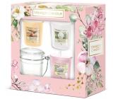 Yankee Candle Garden Hideaway Sunny Daydream - Sne? Ni? za slnečn? nie? ho dňa + Camellia Blossom - Kamélie + Sweet Honeycomb - Sladká medová plást vonná sviečka votívny 3 ks + svietnik, jarné darčeková sada